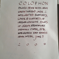 2009 Cream Cow Colophon