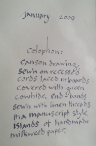 2009 Green Cow Colophon