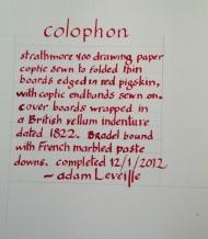 2012 Vellum Colophon