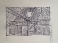 Barn Window Drawing