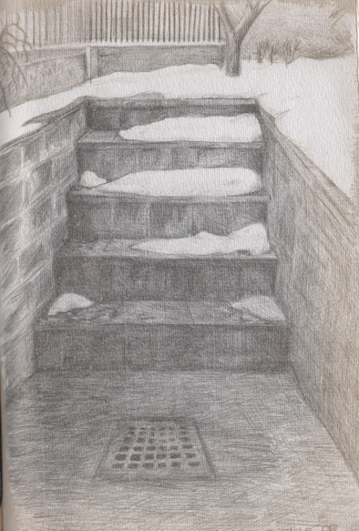 Stairs and Snow