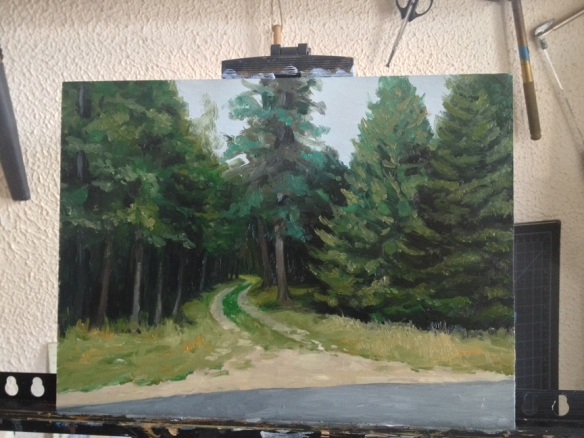 "Swan's Island Road #2 : 9'x12"" Oil on Board"
