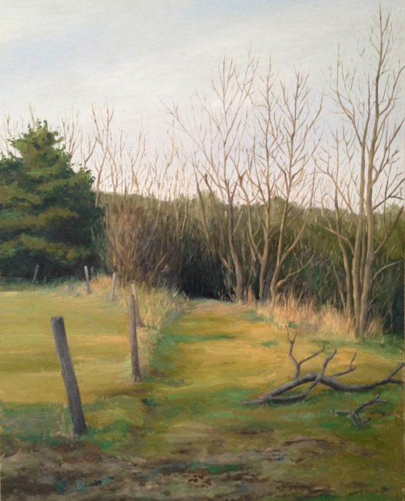 "A Path : Oil on Board, 14""x18""  2013"
