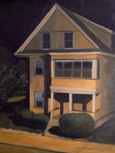 "Yellow House : Oil on board. 9""x12"" 2013"