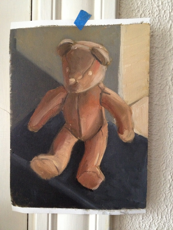 Zorn Palette Teddy : Oil on unmounted canvas. 2013