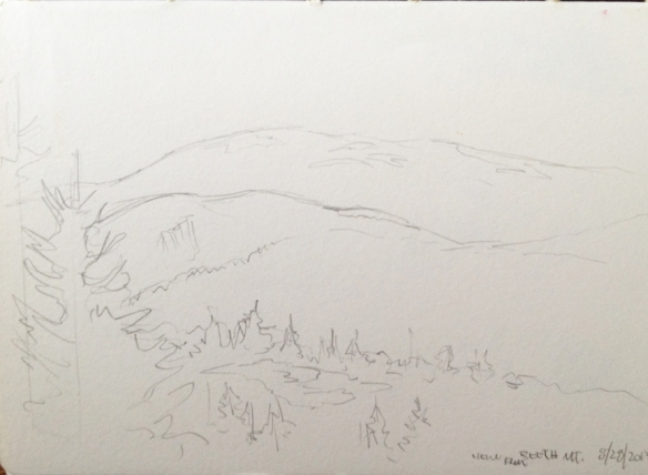 "View From Beech Mountain : Pencil. 5""x7"" 2013"
