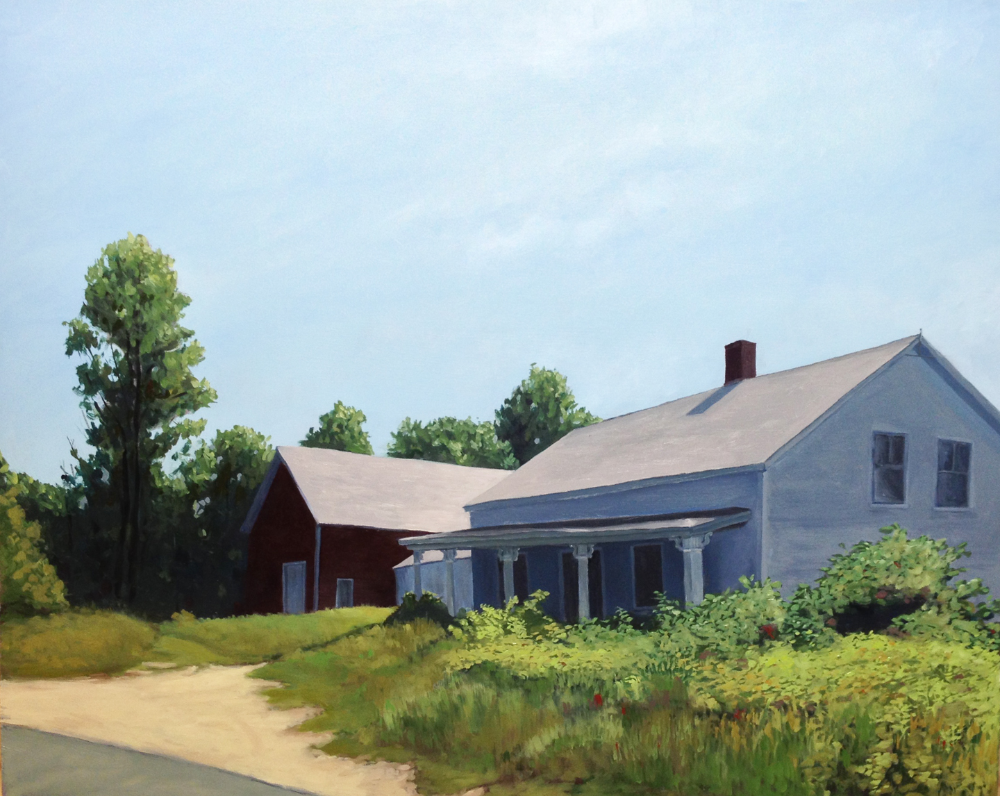 """An Old House : Oil on board, 16""""x 20""""  2013"""