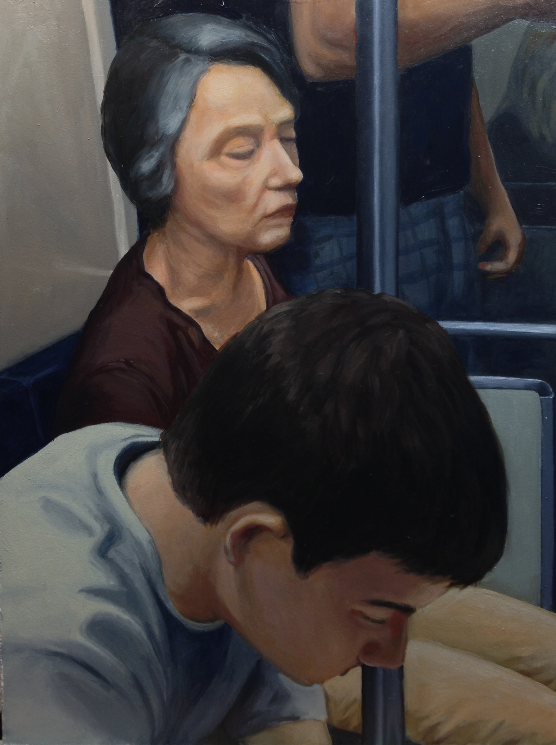 """Travellers : Oil on board, 9""""x12"""" 2013"""
