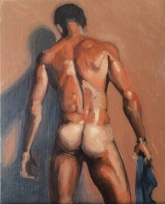 "Figure Study : Oil on canvas board. 8""x10"" 2014"