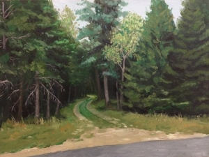 "Access Road : Oil on board. 9""x12"" 2013"