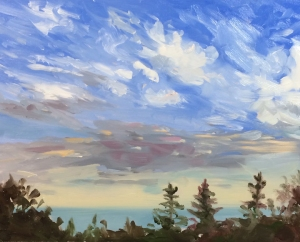 "Cloud Study #1 : Oil on board. 8""x10""  2014"