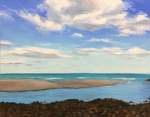 "Cloud Study #2 : Oil on canvas board. 8""x10"" 2014"