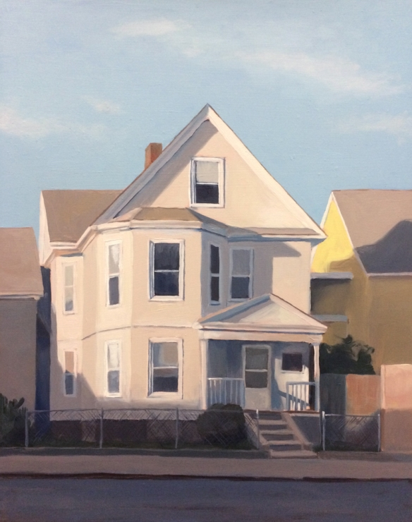 "Another House. Oil on board. 11""x14"" 2014."