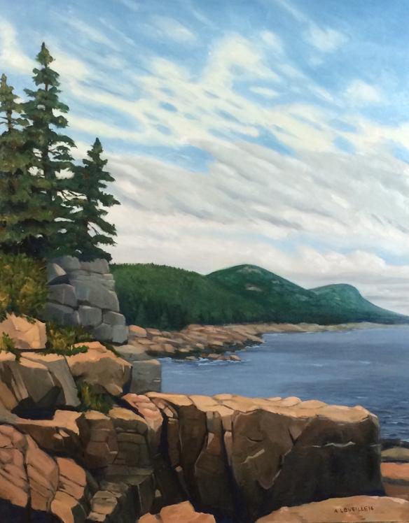 "Untitled (cliffs) : Oil on board. 16""x20"". 2014"
