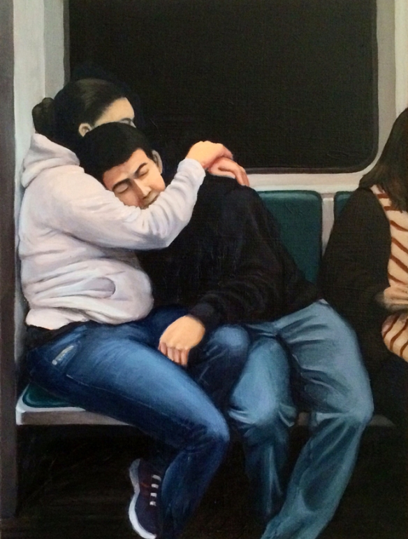 "Travelers #5 : Oil on board. 9""x12"" 2014"