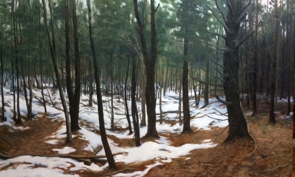 """Untitled (woods) :  Oil on canvas.  48""""x30"""" 2015"""