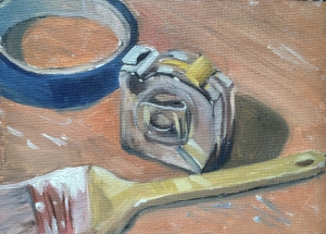 """untitled sketch : Oil on canvasboard. 5""""x7"""" 2015"""