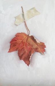 """untitled (leaf study 1) : Oil on board. 6""""x9"""" 2015"""