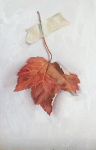 "untitled (leaf study 1) : Oil on board. 6""x9"" 2015"