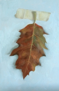 "untitled (leaf study 2) : Oil on board. 6""x9"" 2015"